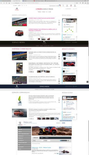 Site de communication partagé PSA