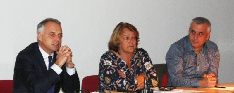 Madame Lardeur avec Messieurs Xavier Peugeot et Alain Thuret