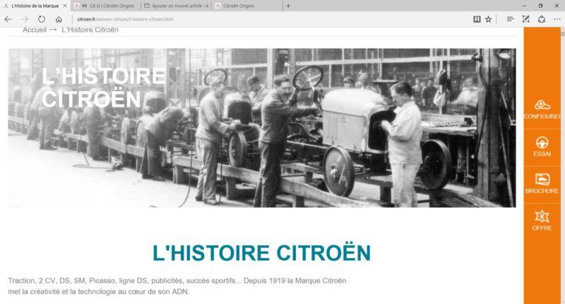 Histoire Citroen