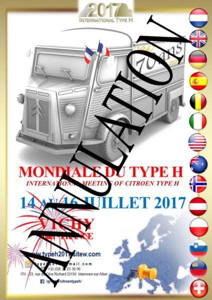 Annulation de la Mondiale du Type H