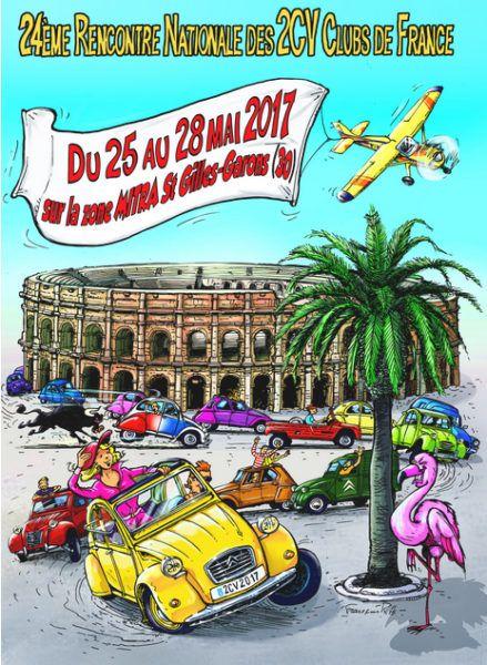 Les 2CV Clubs de France se rencontrent sur l'Aérodrome de Nîmes - Garans