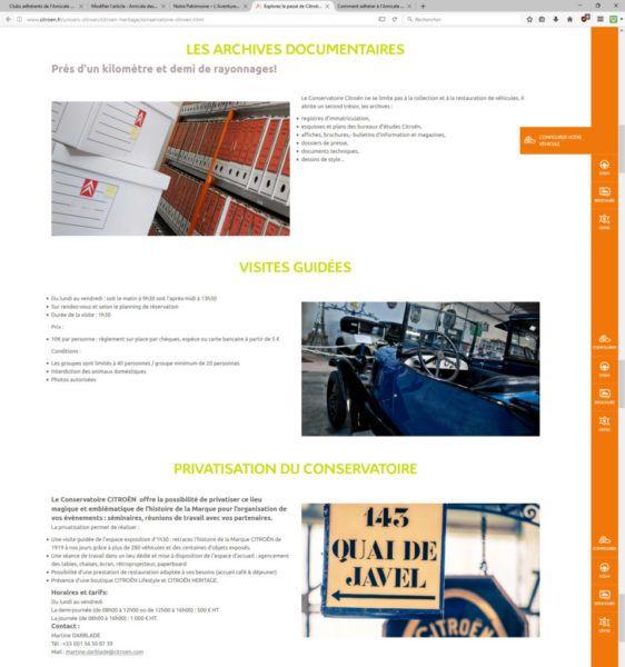 Page du Conservatoire