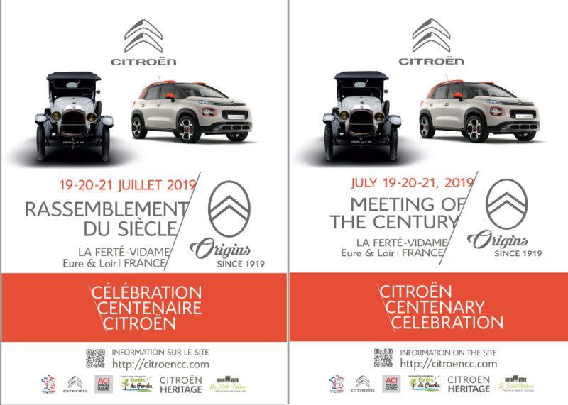 Affichettes Célébration Centenaire Citroën