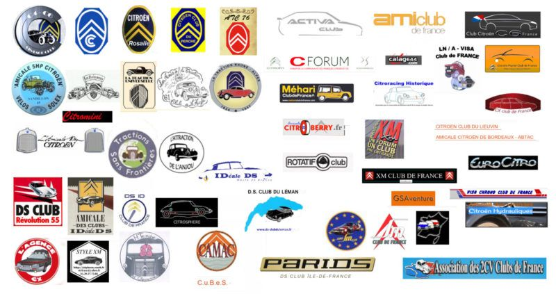 Logos Clubs Amicale Citroën & DS France