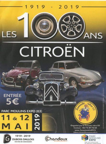 Moulins (03) fête les100 ans de Citroën
